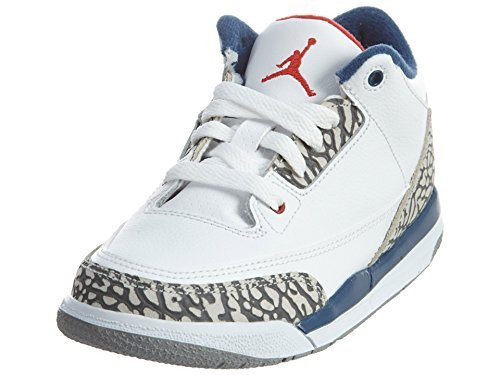 "Air Jordan 3 ""True Blue"" White/Fire Red-True Blue 854262-106 (12c) by Jordan"