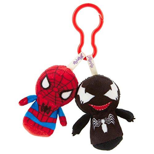 Hallmark Marvel Comics Spider-Man and Venom itty bittys Clippys Itty Bittys Birthday (Venom Plush)
