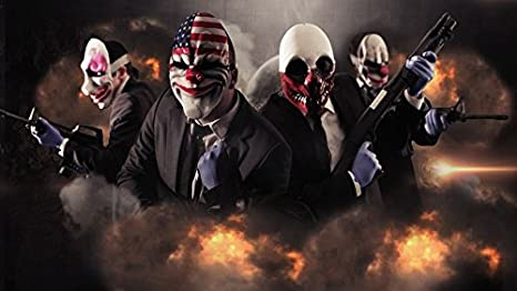 Payday 2 Customized 43x24 Inch Silk Print Poster Seda Cartel