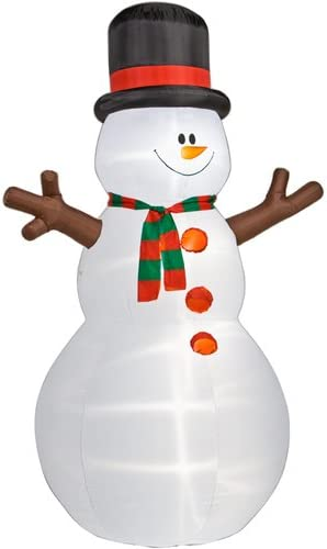 Amazon.com: Muñeco de nieve 12 ft. Navidad airblown ...