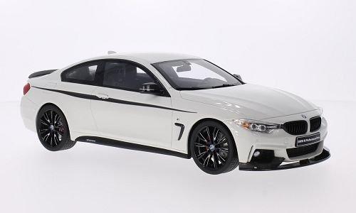 BMW 435i (F32) M Performance, white/Decorated, Model Car, Ready-made, GT spirit 1:18