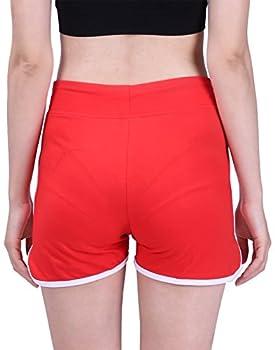 Hde Women's Retro Fashion Dolphin Running Workout Shorts (Red, Medium) 3