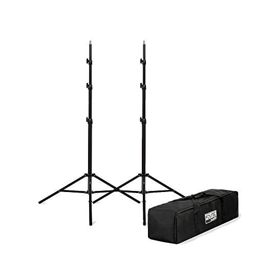 Fovitec - 2x 8'3'' Photography & Video Light Stand Kit - [For Lights, Reflectors, Modifiers][Collapsible][Ergonomic Knobs][Carrying Bag Included] by Fovitec