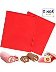 2 Pcs Luck Love Swiss Roll Cake Mat Flexible Baking Tray Jelly Roll Pan Silicone Cookies Mold Bakeware