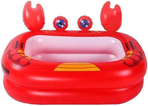 インフレータブルバスタブアンチ滑りやすいプール折りたたみトラベルエアシャワー盆地シート浴場ホームおよびポータブル (Color : Red)