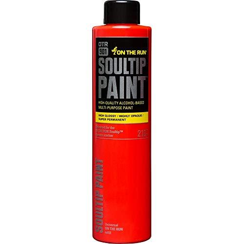 On The run OTR 901 Soultip Paint 210ml Refill - Super Permanent Premium Multi Purpose Paint (Orange) (Super Hipster)