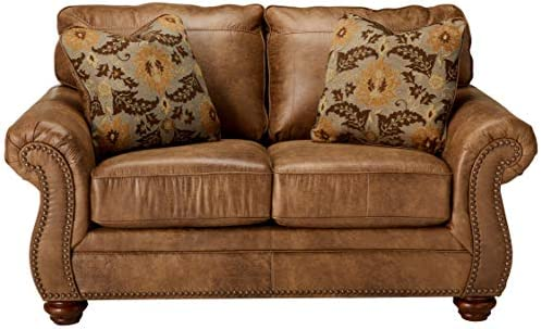 home, kitchen, furniture,  living room furniture 3 picture Signature Design by Ashley - Larkinhurst Contemporary Loveseat, Earth deals