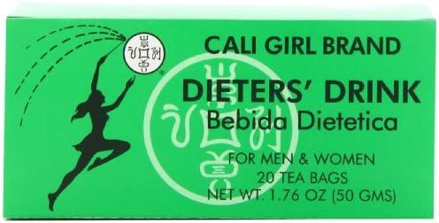 Cali Girl Brand Dieters' Drink Bebida Dietetica 20 Tea Bags 1.76Oz