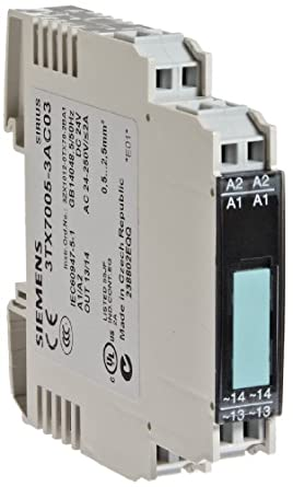 Siemens 3tx7005 3ac03 interface relay narrow design output cage clamp terminal 1 no contact 125mm width 2a max switching current 24 250vac switching voltage 005a min load current 15a20ms short publicscrutiny Gallery