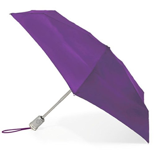 42 Inch Mini Folding Umbrella - Totes Basic Automatic Umbrella,Purple,One Size