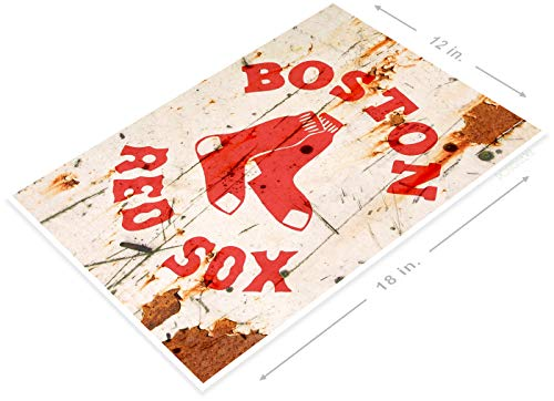PosterGlobe Poster A907 Boston Red Sox Rustic Retro Baseball Fenway Sports Sign Bar Cave 12