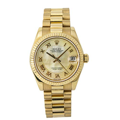Certified Pre-Owned Rolex Datejust Reference 178278 Watch. Comes with Manufacturers Papers