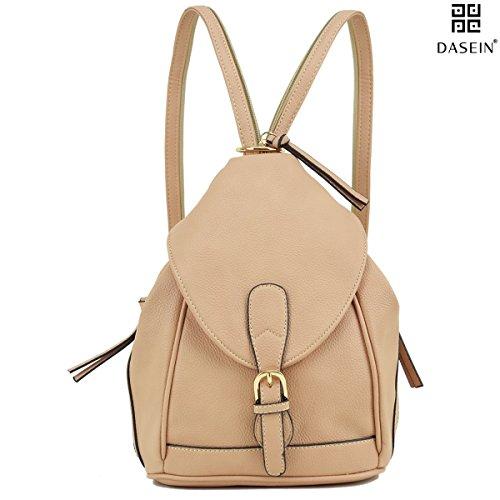 Dasein Women s Mini Faux Leather Convertible Backpack Purse Triangle  Shoulder Sling Bag Multipurpose Daypack Travel Handbag ba3f704db0