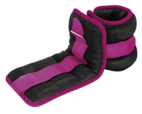 Reehut Durable Ankle/Wrist Weights (1 Pair) w/Adjustable Strap for Fitness, Exercise, Walking, Jogging, Gymnastics, Aerobics, Gym - Purple - 1.5 lbs (×2)