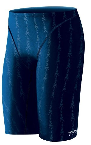 TYR Men's Fusion 2 Jammer Swim Suit (Navy, 20