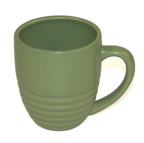 - Chantal Ceramic 20-Ounce Ring Mug, Semi-Gloss Garden Green, Set of 4