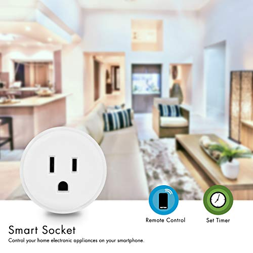 Digital Gadgets Compact Wi-Fi Enabled Smart Plug Control From Smartphone Anywhere Works With Alexa by Digital Gadgets (Image #4)