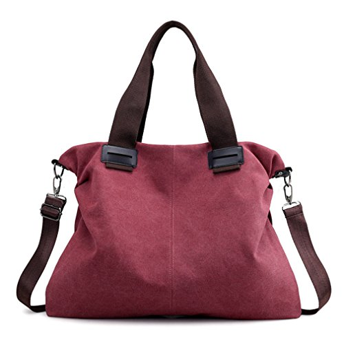 (Women's Large Work Tote Purse Shoulder Bags Weekend Travel Crossbody Bag (Red))