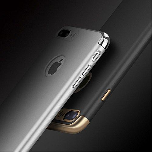 IPAKY 3-in-1 Electroplating Hard PC Tasche Hüllen Schutzhülle - Case für iPhone 7 Plus - schwarz