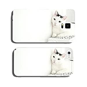 Cat on the heating cell phone cover case Samsung S5