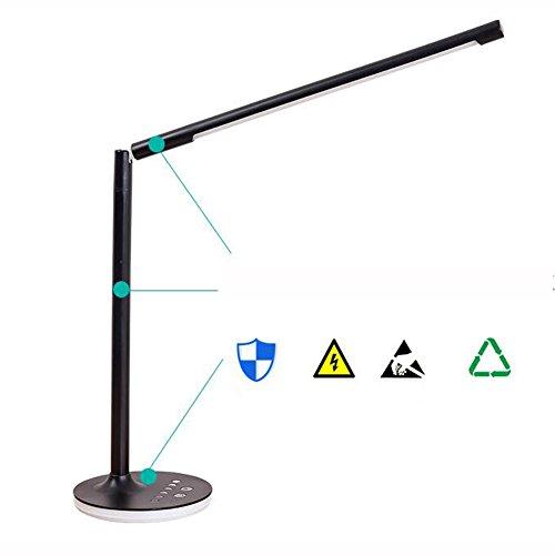 XKS 360 Degree LED Desk Lamp - Student Desk Writing Simple Work Bedroom Lamp - Touch 9W Children Reading Lamp by XKS