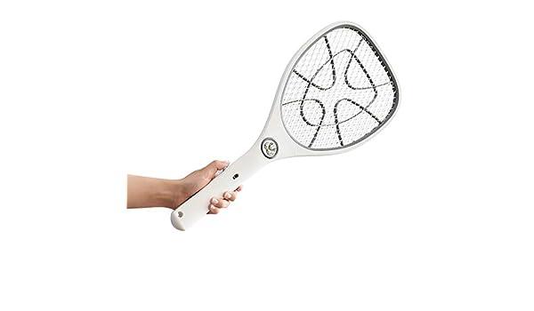 Chlry Recargable Mata Mosquitos Matamoscas Raqueta electrico, con ...