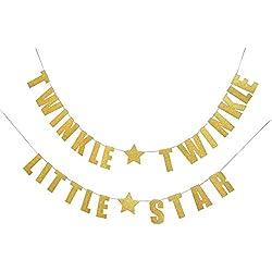 Star Glittery Gold Banner