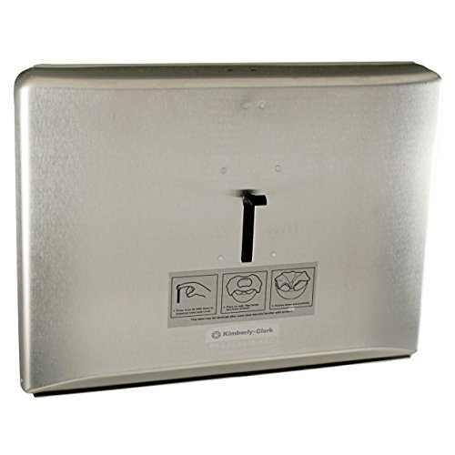 Kimberly Clark Windows Toilet Seat Cover Dispenser (09512), Stainless Steel by Kimberly-Clark Professional