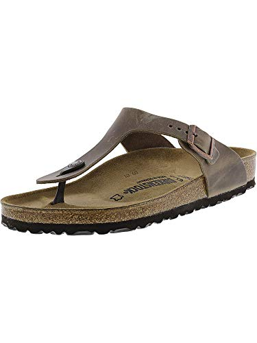 (Birkenstock Women's Gizeh Leather Tobacco Oiled Leather 41 R Tabacco Brown)