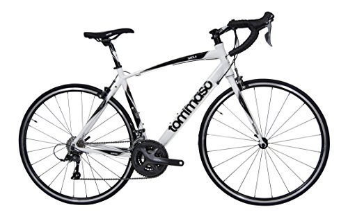 Tommaso Imola Endurance Aluminum Road Bike, Shimano Claris R2000, 24 Speeds - White - Large