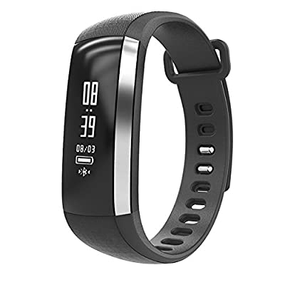 Fitness Tracker, Heart Rate Monitor Wireless Waterproof IP67 Activity Wristband Smart Bracelet Watch with Sports Pedometer Calorie Counter for IOS & Android Smartphone
