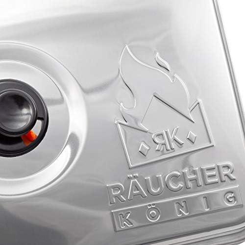 R/äucher K/önig Deluxe Edelstahl Tischr/äucherofen R/äuchermehl Buche R/äucherlauge