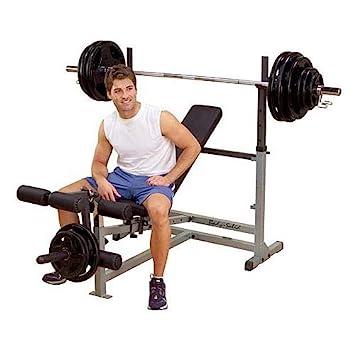 Body Solid gdib46l Deluxe Halterofilia, langhantelbank, banco de pesas, entrenamiento banco, –
