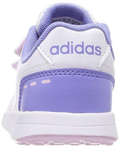 adidas Unisex-Kinder Vs Switch 2 CMF Gymnastikschuhe Mehrfarbig (Ftwr White/aero Pink S18/chalk Purple S18)