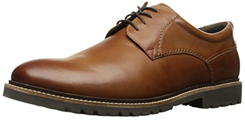 Rockport Mens Marshall Plain Toe Oxford Cognac Leather  8 W Us  8 W Us
