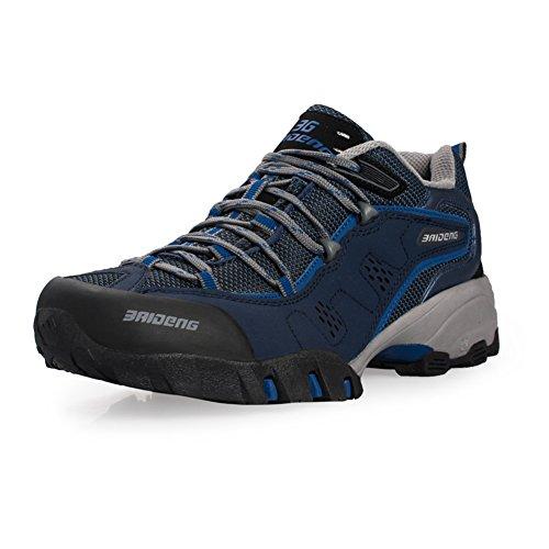 Men's Outdoor Mid Hiking DarkBlue Waterproof Baideng Boot Trekking OwZTBqnq