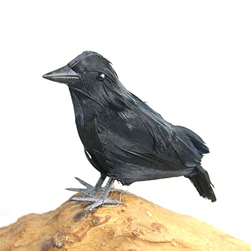Naisidier Halloween Simulated Crow Artificial Raven for Halloween Party Decoration