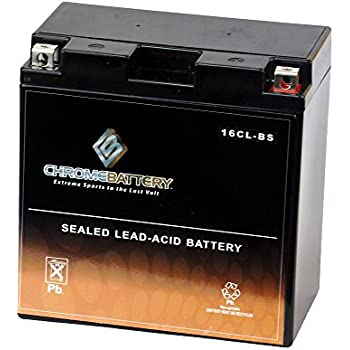 Replacement YB16CL-BS Jet Ski Battery & Watercraft Battery- Sealed & Maintenance Free- Rechargeable AGM Battery- Chrome Battery