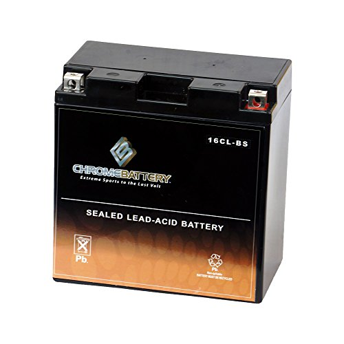 Chrome Battery YB16CL-B High Performance Power Sports Battery ()