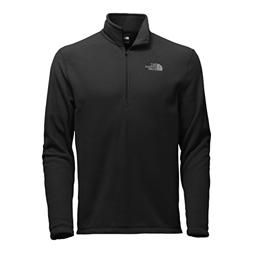 The North Face Men's TKA 100 Glacier 1/4 Zip TNF Black LG by The North Face