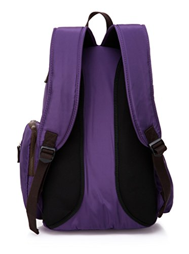 LCY Smart–Mochila grande bolsa cambiador de bebé bolsa de pañales con cambiador rojo rosso morado