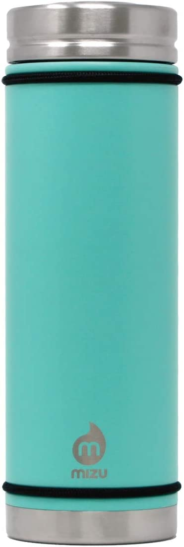 Mizu 22 oz V7 Stainless Steel Wide Mouth Double Wall Vacuum Insulated Water Bottle with V-Lid - BPA Free - Spearmint