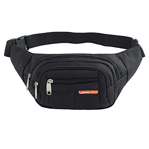 Cintura Pack Bolso de Paquete, Paquetes de la Cintura para Hombres y Mujeres, Waist Pack Bags Bolsas Cross-Body Cangureras de...