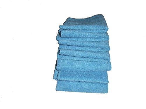 7-light-blue-microfiber-towels-12-x-12-300-gsm-professional-quality-towels-plus-1-free-16-by-16-glas