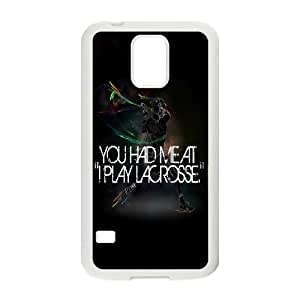DDOUGS I play lacrosse New Fashion Cell Phone Case for SamSung Galaxy S5 I9600, Customized I play lacrosse Case