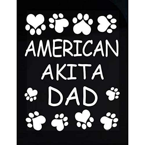 - BADASS REPUBLIC American Akita Dad Lovers Owner Gift for Christmas Birthday - Transparent Sticker