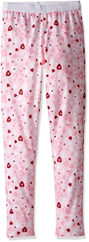 Hot Chillys Solid Bottom (Hot Chillys Youth Pepper Skins Print Bottom, Heart Dance, Medium)