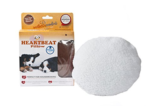PetZu Mother's Comfort Heartbeat Pet Pillow, Chocolate/White ()