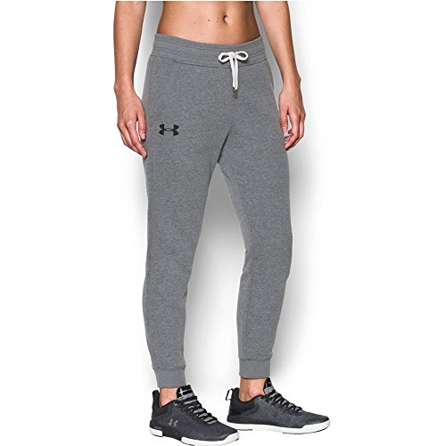 Under Armour Women's Favorite Fleece Pant,Carbon Heather/Bla