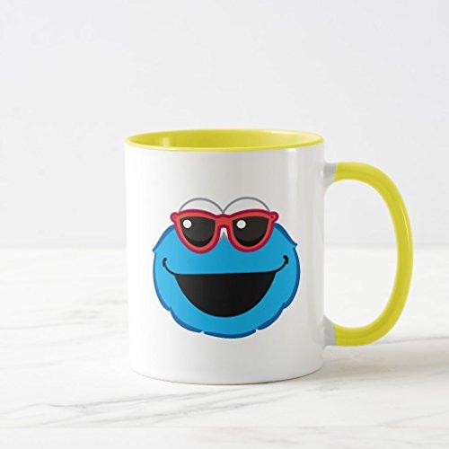 Zazzle Cookie Smiling Face with Sunglasses Mug, Yellow Combo Mug 11 - F21 Sunglasses